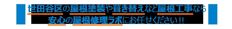 世田谷区の屋根塗装や葺き替えなど屋根工事なら安心の屋根修理ラボにおまかせ下さい!