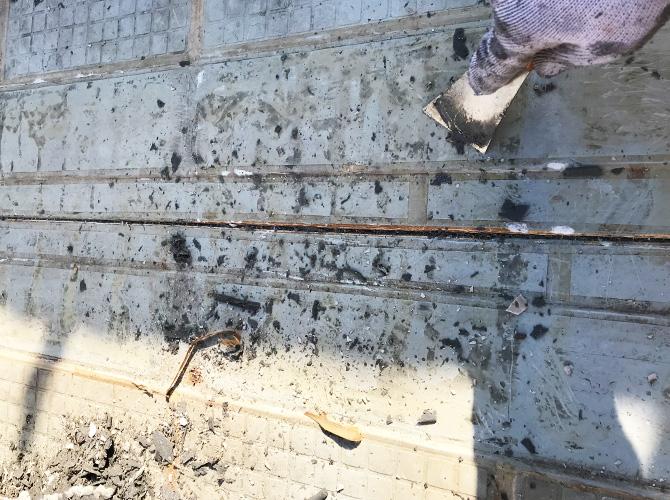屋上防水の施工前の状態