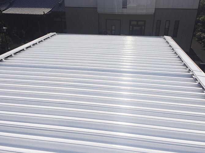 折板屋根塗装の完了後