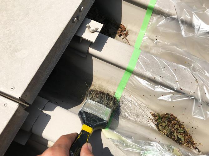 折板屋根の清掃