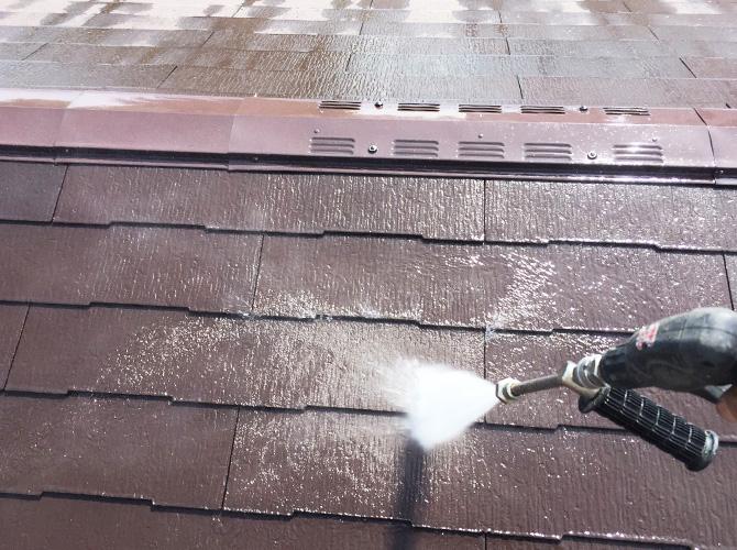 墨田区マンションの屋根高圧洗浄