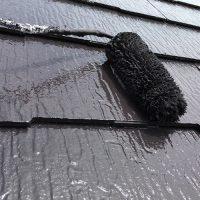 墨田区マンション屋根塗装の上塗り