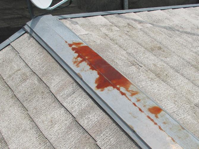 暑さ対策の屋根遮熱塗装工事の施工前
