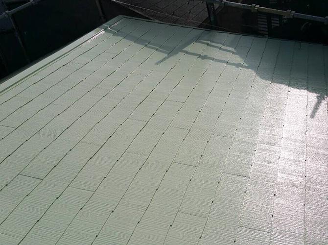 暑さ対策屋根遮熱塗装工事の施工完了後