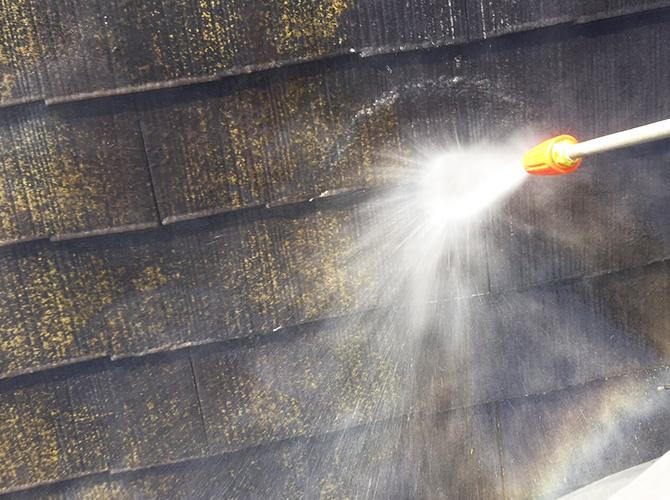 暑さ対策屋根塗装の高圧洗浄