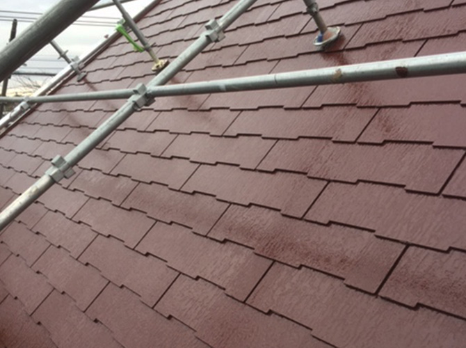 屋根の遮熱塗装の完了後