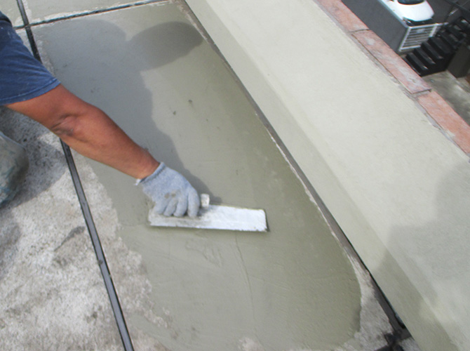 屋上床の下地調整