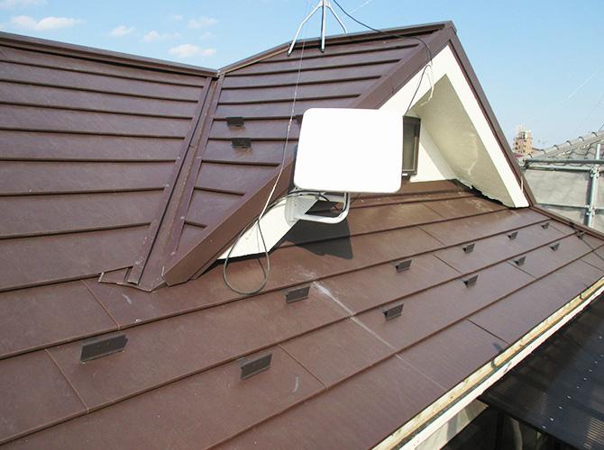 台風対策の屋根葺き替え工事の完了後