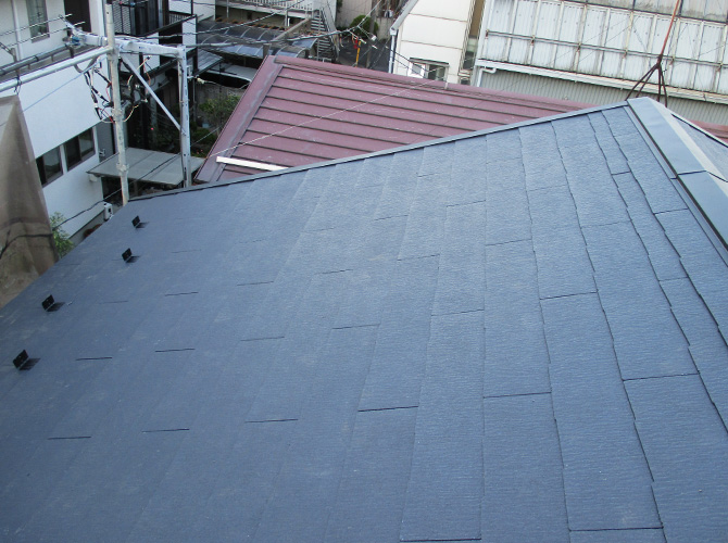 台風対策の屋根葺き替え工事の施工完了