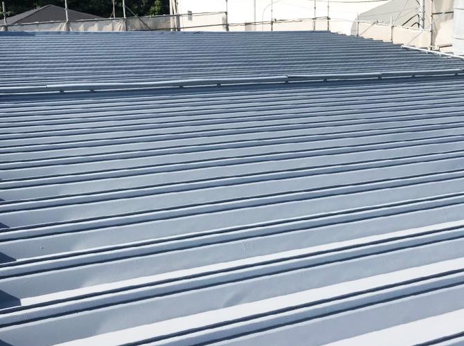 工場折板屋根塗装の完了後