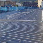 上田市Dマンションの折板屋根塗り替え工事 – 折板屋根のサビ止め塗装工事