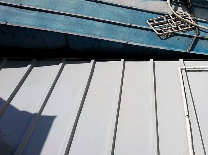 トタン屋根防水工事の施工完了後