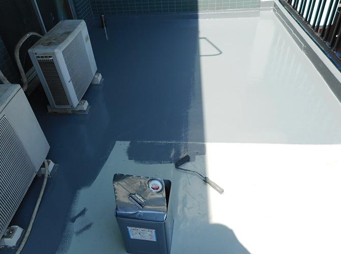 バルコニー防水のトップコート