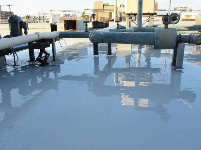 ウレタン防水材の塗布完了