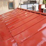 墨田区Dカフェの屋根塗り替え工事 – トタン屋根のサビ止め塗装工事