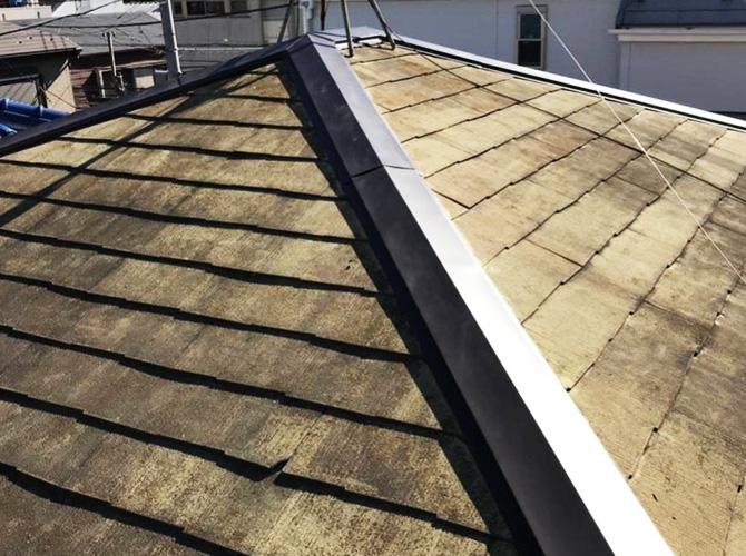 屋根修理工事の施工完了後