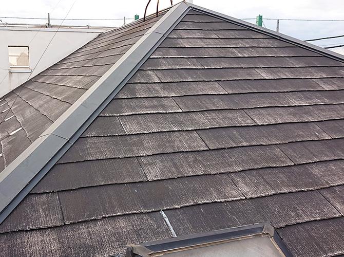 屋根の高圧洗浄完了後