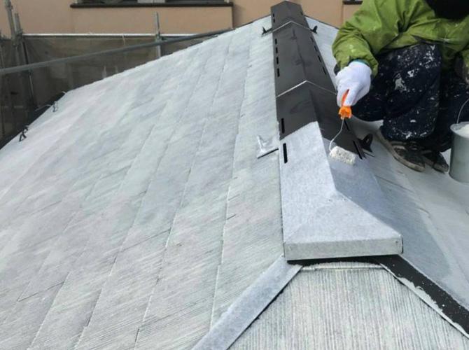屋根の鉄部塗装