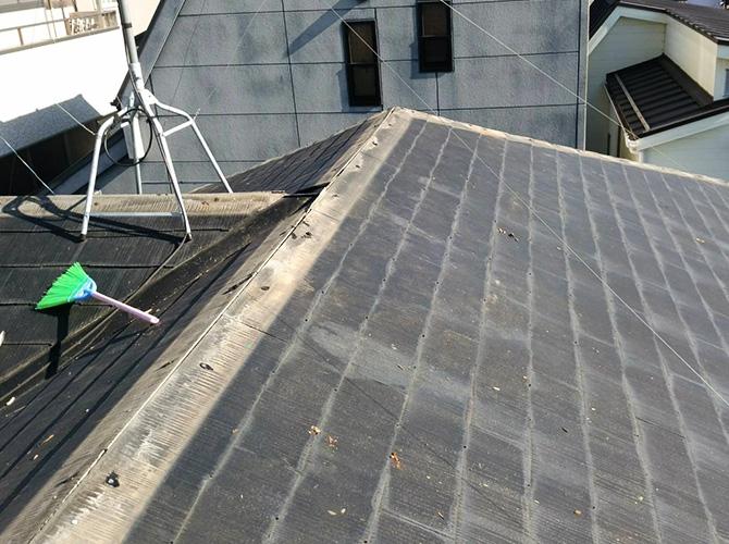屋根の笠木の撤去