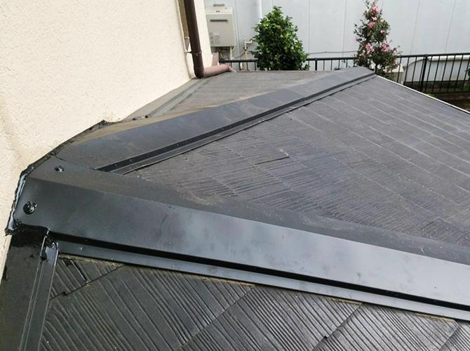 屋根修理工事の完了後