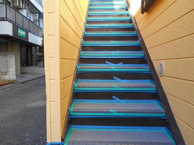 階段のシール処理