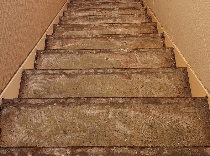 階段の撤去完了後