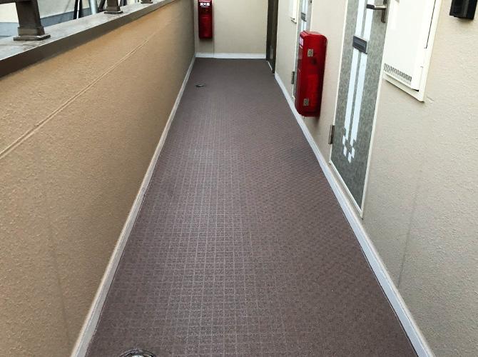 2階廊下の施工完了後