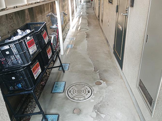 廊下の下地処理