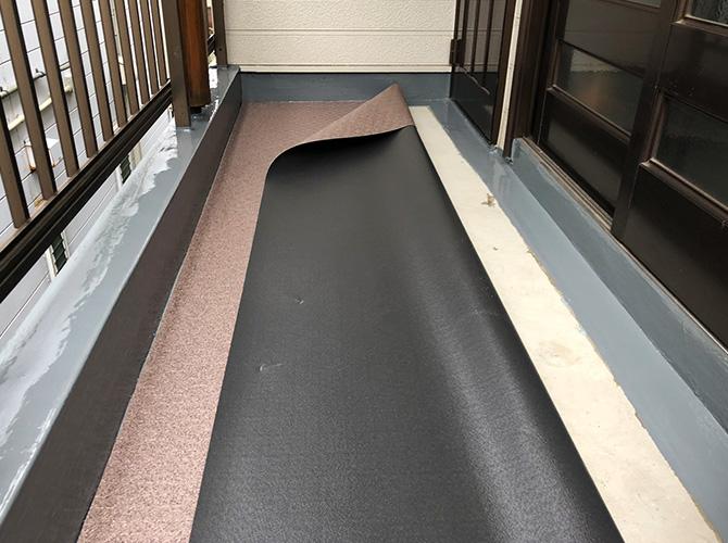 廊下長尺シートのサイズ調整