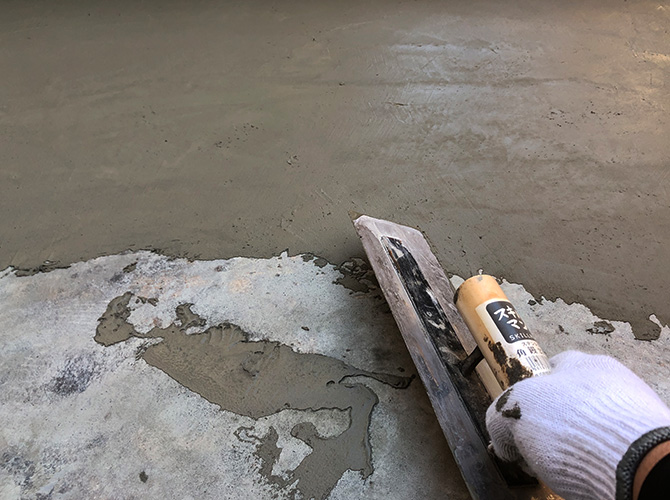 防水工事の下地調整