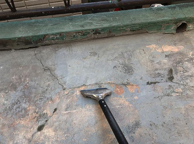 撤去後のケレン清掃