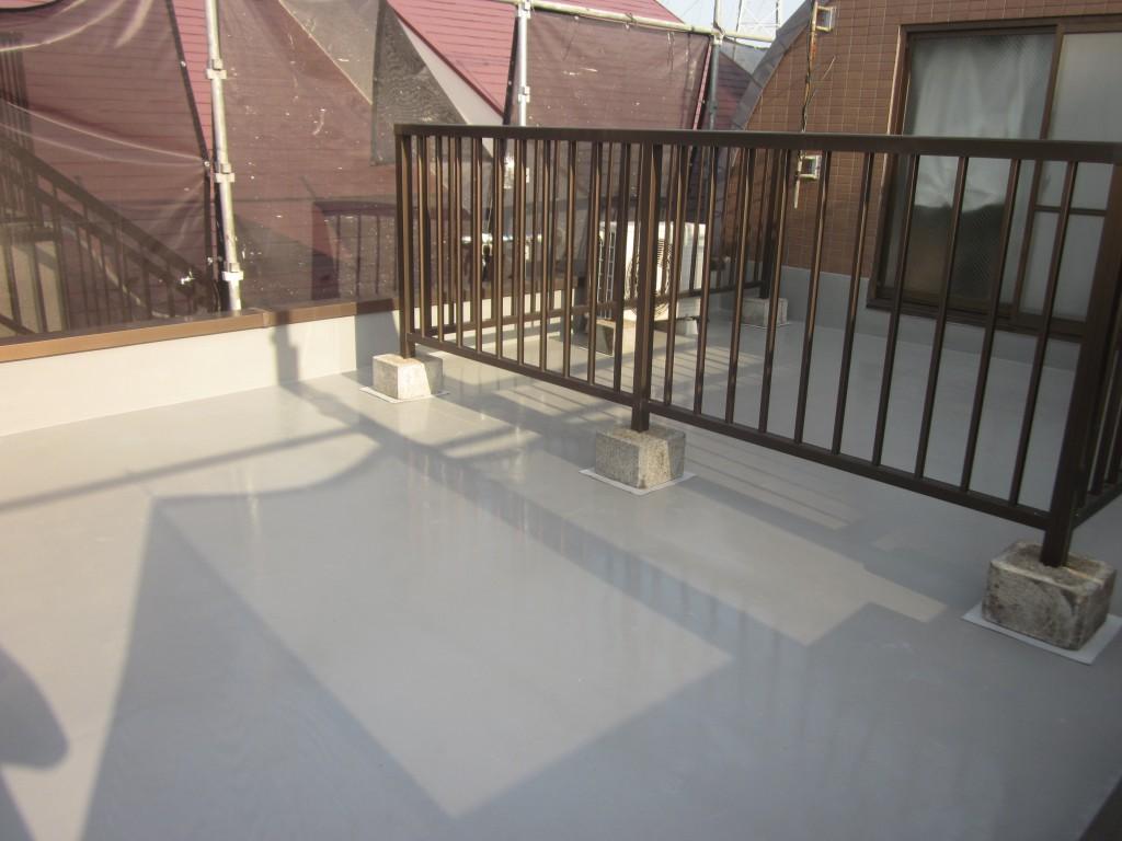 屋上防水工事の施工完了
