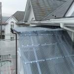 小金井市Rアパート外階段波板交換工事 – 屋外階段の屋根取り換えリフォーム