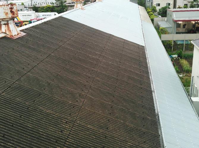 屋根カバーの施工前