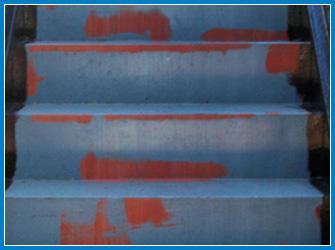 アパート階段の劣化状況