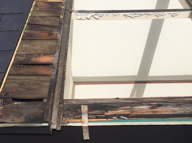 屋根内部の劣化状況