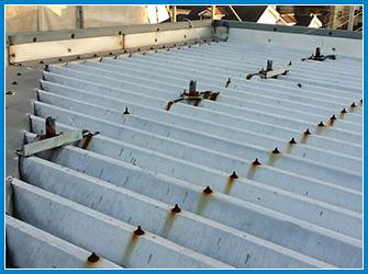 折板屋根のサビなどの劣化症状
