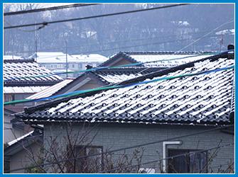 屋根の雪被害