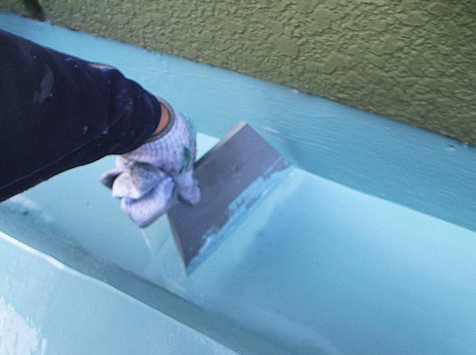 ウレタン防水二層目の塗布