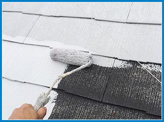 屋根の断熱塗装の下塗り