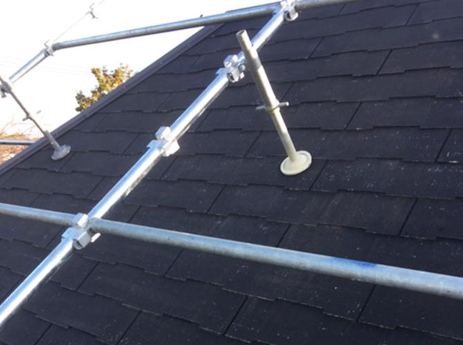 屋根の遮熱塗装工事の施工前の状態