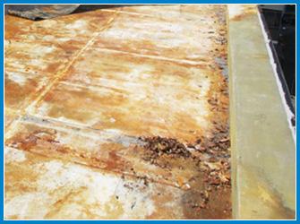 屋上床の防水の劣化状況