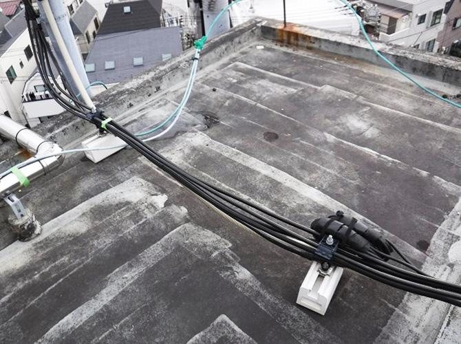 屋上塔屋の防水工事施工前