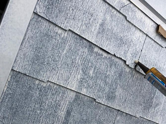 屋根材のひび割れ補修