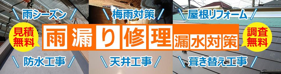 雨漏り修理・漏水対策工事