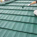 さいたま市K様邸の屋根塗装リフォーム – グリーン系の色で屋根の塗り替え工事