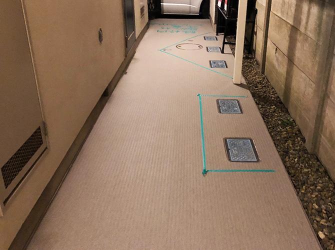 廊下長尺シート工事の完了後