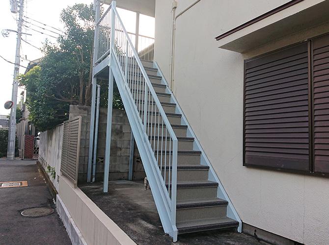 階段長尺シートの完了後
