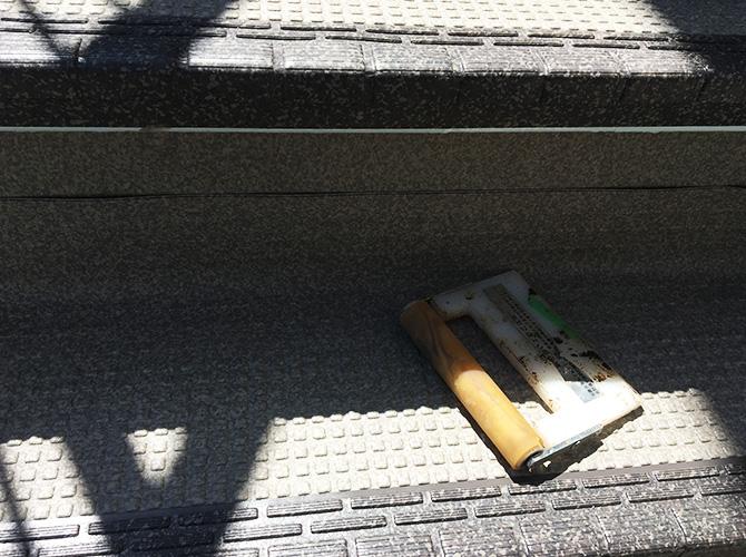 階段の長尺シート設置