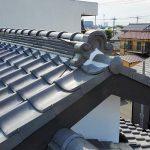 八潮市M様邸の瓦屋根の漆喰工事 – 瓦のズレや漆喰の詰め直し工事